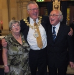 David Ridgeway Mayor of Kirklees shares a joke with Cora & Danny